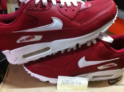 quality design d9a32 f7890 nike air max 90 red and white