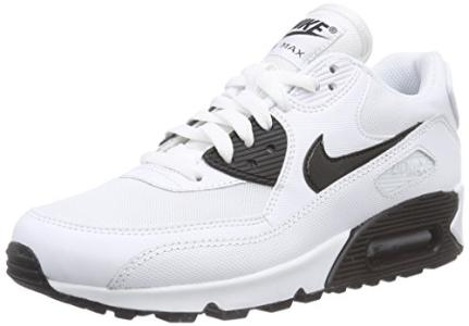 buy popular ac081 13fd2 white and black air max 90